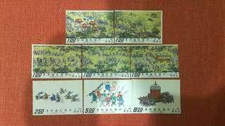 🚚 明人出警圖古畫郵票全套8枚