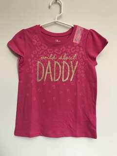 The Children's Place Girls T-shirt (Wild about Daddy)