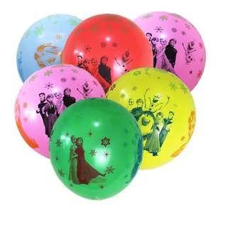 Frozen party supplies - frozen latex balloons / party balloons / party deco