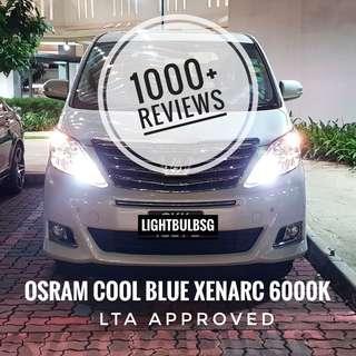 Toyota Alphard on D4S Osram cool blue 6000k xenon HID headlight bulb + installation