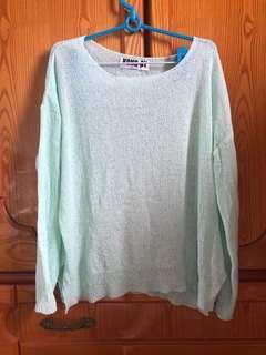 🚚 淺綠色線衫
