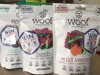 Woof freeze dried dog bites 50gm