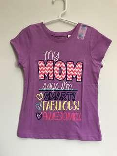 The Children's Place Girls T-shirt (Mum says I'm Smart Fabulous Awesome)