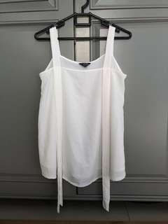 Top Blouse White Tanktop