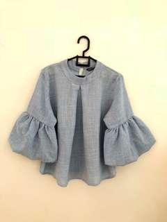 Top Blouse Baby Blue