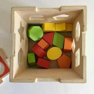 Wooden Shape Sorting Box