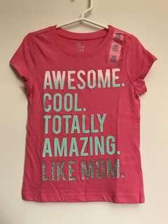 The Children's Place Girls T-shirt (Awesome Cool Amazing like Mum)