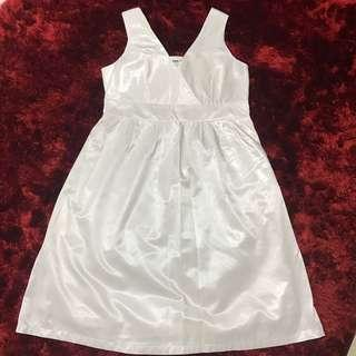 White Dress plus size uk14