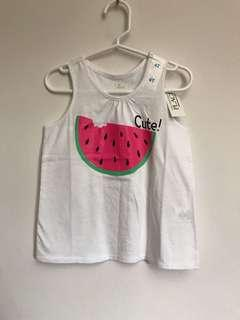 The Children's Place Girls Racer-back Tank Top (Cute Watermelon)