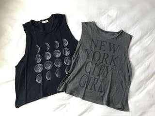 Brandy Melville Sadie Moon Tank and New York City Girl Tank