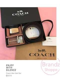 📣LAST SET! 💯% Original Coach Men Belt Set (Type E) Ready Stock! Must Have 👍👍👍