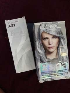 A21 Light grey & P1 Smokey blue permanent hair color
