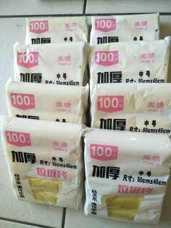 GARBAGE  PLASTIC BAG ~ 100 pcs per pack