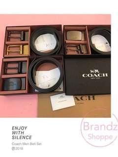 🚀Shocking Deal! 💯% Coach Men Fashion Leather Belt Gift Set (Type F) Ready Stock