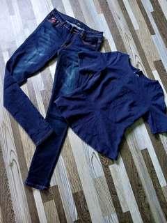 combo...jeans size 29..peplum size s