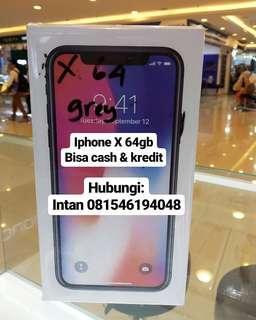 Iphone X 64gb bisa kredit murah tanpa kartu kredit, murah dan cepat