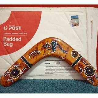 Hiasan Boomerang Asli dari Australia - Hand Made Paintet