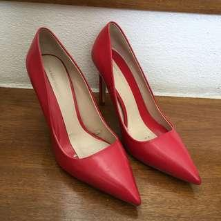 Zara Basic Collection Red Pumps