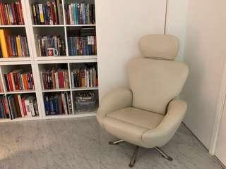 Italian leather reading chair