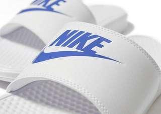 特價中🤩 Nike Benassi Slider 白底藍剔 拖鞋