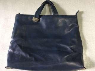 No brand leather handbag