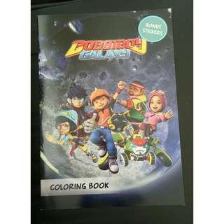 Boboiboy galaxy coloring book