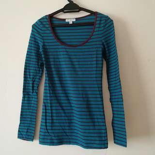 COTTON ON longsleeve stripe tee/top/shirt
