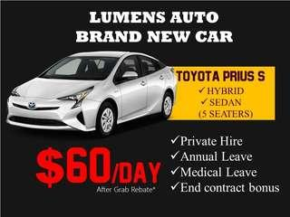 Toyota Prius - CAR RENTAL FOR GRAB / PRIVATE HIRE