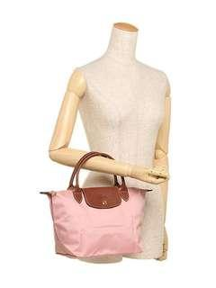 💥HOT DEAL! 💯% LONGCHAMP LE PLIAGE TOTE 1621089 SMALL/SHORT HANDLE (ROSE) READY STOCK