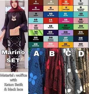 Marino set top and skirt