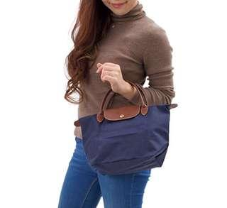 👑HOT DEAL! 💯% LONGCHAMP LE PLIAGE TOTE 1621089 SMALL/SHORT HANDLE (NAVY) READY STOCK