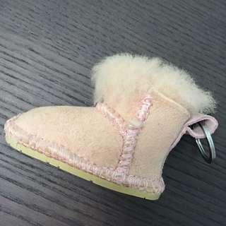 UGG dirty pink boots key chain 毛毛 鞋 靴 鎖匙扣
