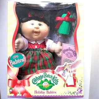 2006s Limited Edition Cabbage Patch Holiday Babies Doll & Birth Certificate