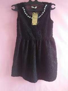 Black mini dress pesta import (Premium collection)
