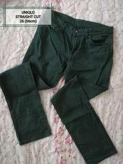 Uniqlo Jeans (dark green)