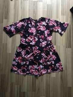Kimono Sakura Floral Romper