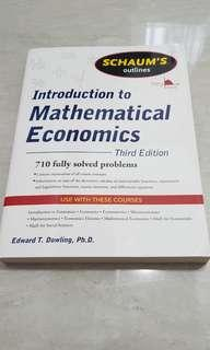 Introduction to Mathematical Economics (third edition) Edward T.Dowling