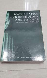 Mathematics for Economics and Finance. Martin Anthony and Norman Biggs