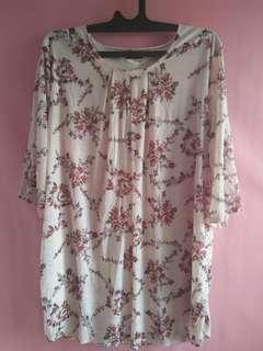 Flower Blouse pink allsize