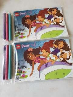 Lego Friends Postcards colouring