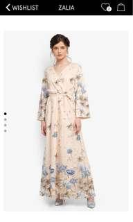 Floral embroidered Wrap Dress Zalora