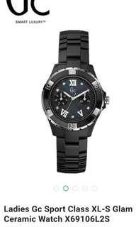 Authentic Guess X69106L2S Diamond Glam ※ Black Ceramic