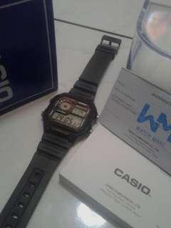Casio AE-1200WH lcd green ORIGINAL / ASLI