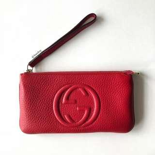 Authentic Gucci Red Soho Wristlet