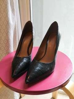 Charles & Keith Black High Heels