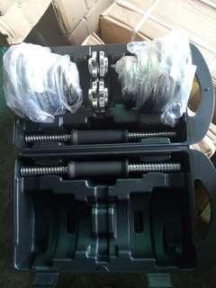電鍍啞鈴20公斤(dumbbell 20kg),贈連結槓1支