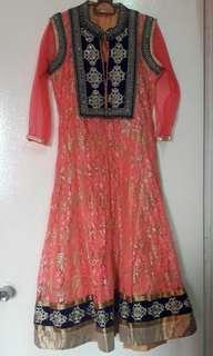 Punjabi Suit (Orangy Peach)