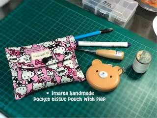 Beginners sewing handmade crafting workshop- tissue pouch with flap