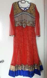 Punjabi Suit (Red+Blue)