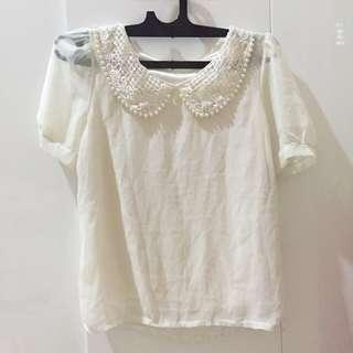 Pearl korean White top